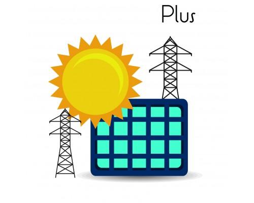 Сетевая солнечная станция 15 кВт Plus на земле